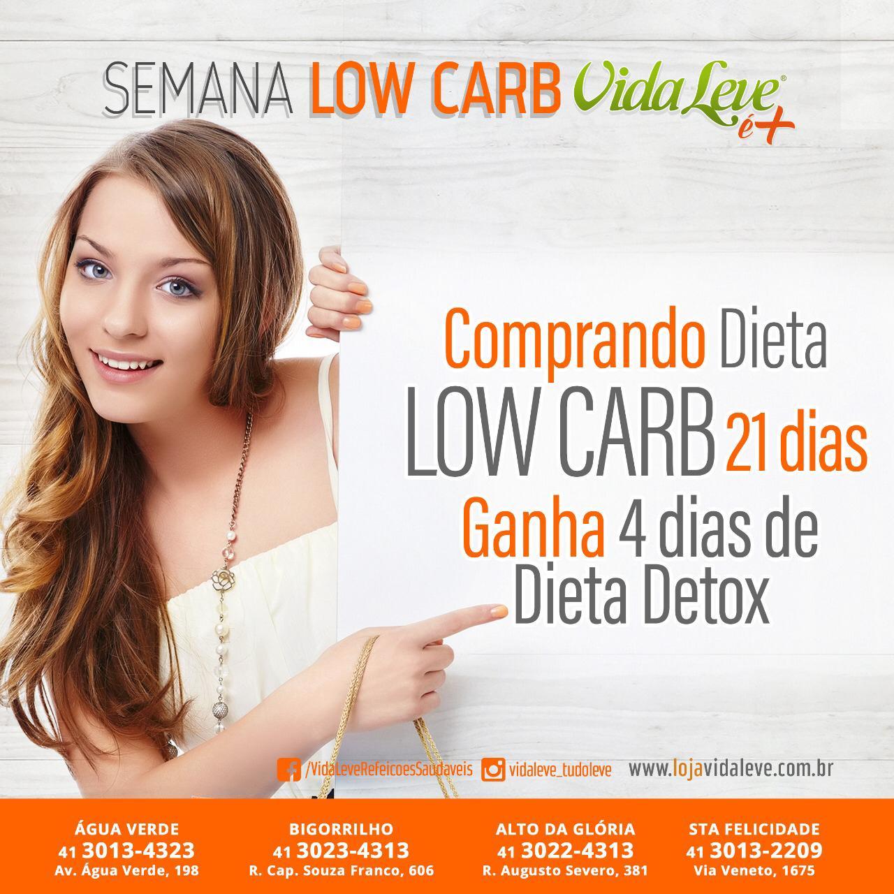 Dieta Low Carb - 21 dias + 4 dias Detox