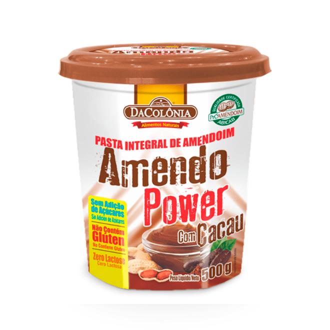 AMENDO POWER COM CACAU -  DACOLÔNIA 500G