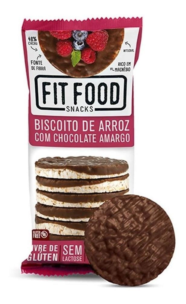 BISCOITO DE ARROZ COM CHOCOLATE AMARGO - FIT FOOD 70G