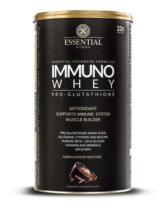 IMMUNO WHEY PRO GLUTATHIONE SABOR CHOCOLATE 465G - ESSENTIAL NUTRITION