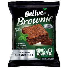 BROWNIE CHOCOLATE COM MENTA 40G - BELIVE