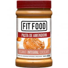 Pasta de amendoim integral crocante vegano - Fit Food 450g