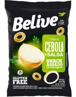 SNACKS SABOR CEBOLA E SALSA - BELIVE 35G