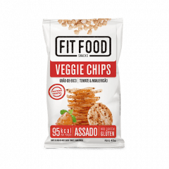 VEGGIE CHIPS TOMATE E MANJERICAO - FIT FOOD 40G