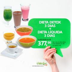 COMBO FICA EM CASA: DIETA LIQUIDA 3 DIAS + ULTRA DETOX 3 DIAS