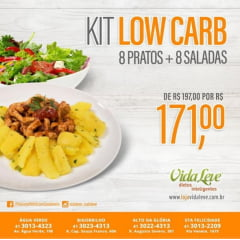 Promo KIT FIT Low Carb - 8 PRATOS  e 8 SALADAS